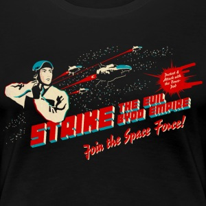 Black Join the Space Force (dark shirt) T-Shirts - Women's Premium T-Shirt