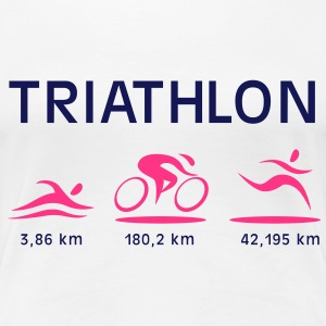 Triathlon T-Shirts - Frauen Premium T-Shirt