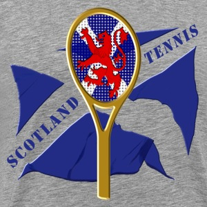Scotland flag tennis racket T-Shirts - Men's Premium T-Shirt