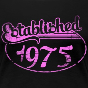 established 1975 dd (es) Camisetas - Camiseta premium mujer