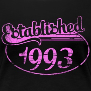 established 1993 dd (es) Camisetas - Camiseta premium mujer