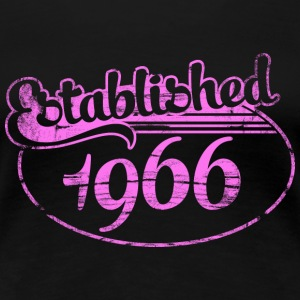 established 1966 dd (es) Camisetas - Camiseta premium mujer