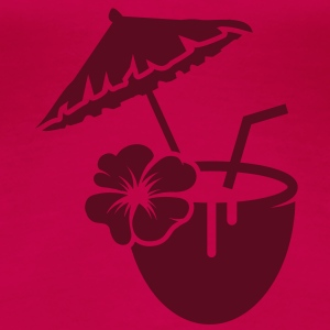 Coconut milk cocktail with hibiscus flower T-Shirts - Women's Premium T-Shirt