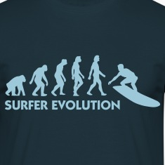 Navy Evolution of Surfing 3 (1c) T-shirts