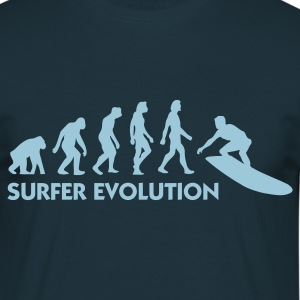 Azul marino Evolution of Surfing 3 (1c) Camisetas - Camiseta hombre