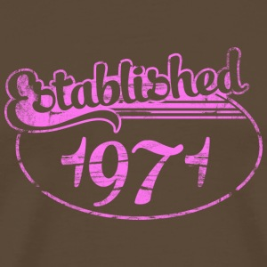 established 1971 dd (sv) T-shirts - Premium-T-shirt herr