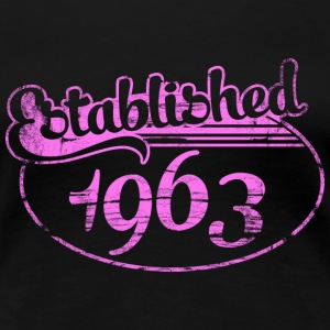 established 1963 dd (es) Camisetas - Camiseta premium mujer