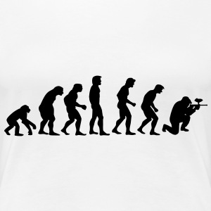 paintball_evolution T-shirts - Dame premium T-shirt