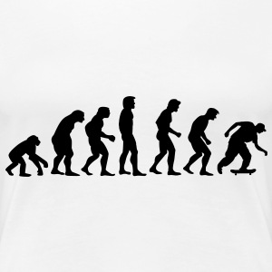 skater_02_evolution T-Shirts - Frauen Premium T-Shirt
