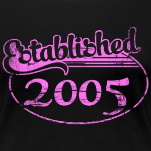 established 2005 dd (es) Camisetas - Camiseta premium mujer