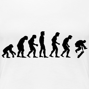 skater_evolution T-Shirts - Frauen Premium T-Shirt