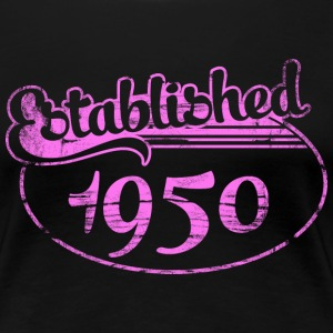 established 1950 dd (sv) T-shirts - Premium-T-shirt dam