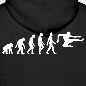 Black Evolution of Karate (1c) Hoodies & Sweatshirts - Men's Premium Hoodie