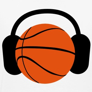 BASKETBALL with headphones listening to music T-Shirts - Men's Premium T-Shirt