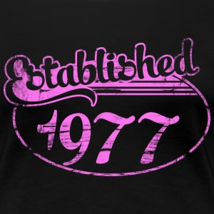 Geburtstag - established 1977 dd (de) T-Shirts - Frauen Premium T-Shirt