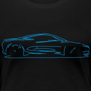 car sketch T-Shirts - Frauen Premium T-Shirt
