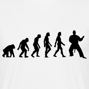 White Evolution of Judo (1c) Men's T-Shirts - Men's T-Shirt