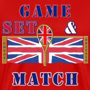 Great Britain tennis game set match T-Shirts - Men's Premium T-Shirt