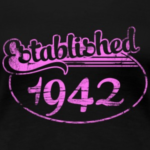 established 1942 dd (es) Camisetas - Camiseta premium mujer