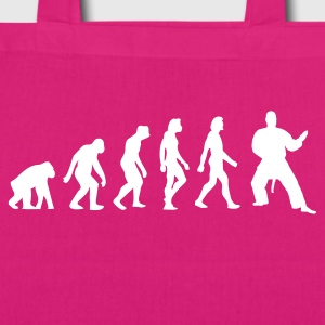 Black Evolution of Judo (1c) Bags  - EarthPositive Tote Bag