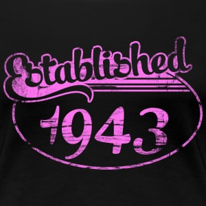 established 1943 dd (sv) T-shirts - Premium-T-shirt dam