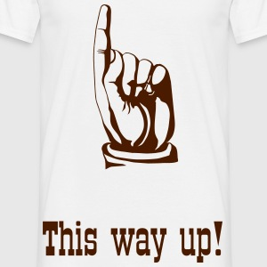 This way old fashioned pointing hand sign T-Shirts - Men's T-Shirt