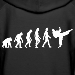 Black Evolution of Taekwondo (1c) Hoodies & Sweatshirts - Women's Premium Hoodie