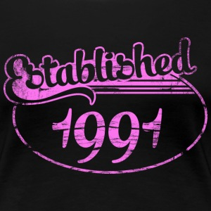 established 1991 dd (es) Camisetas - Camiseta premium mujer