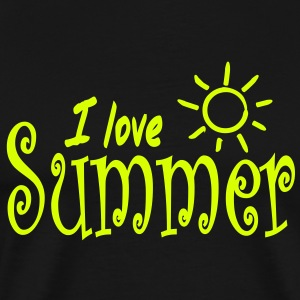 I love Summer T-shirts - Mannen Premium T-shirt