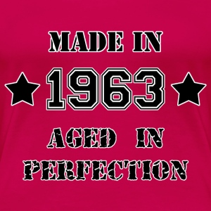 Made in 1963 T-shirts - Dame premium T-shirt