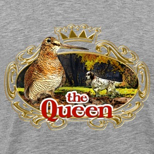 woodcock - the queen of the forest - Premium T-skjorte for menn