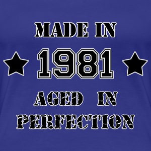 Made in 1981 T-shirts - Premium-T-shirt dam