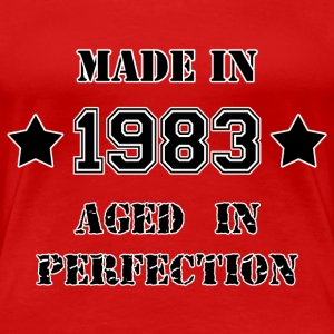 Made in 1983 T-shirts - Dame premium T-shirt