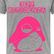Ontwerp ~ Men Basic shirt: Jeff Residenza - Stupid Pinguin (neon pink)