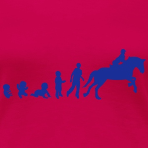 evolution equitation cheval2 obstacle sa Tee shirts - T-shirt Premium Femme