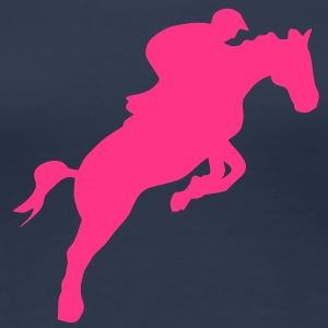 equitation cavalier11 obstacle cheval sa Tee shirts - T-shirt Premium Femme