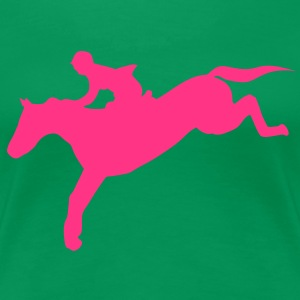 equitation cavalier7 obstacle cheval sau Tee shirts - T-shirt Premium Femme