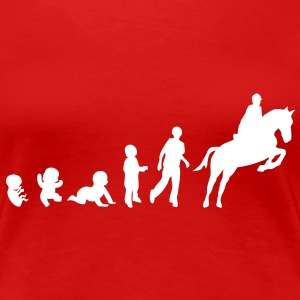 evolution equitation cheval1 obstacle sa Tee shirts - T-shirt Premium Femme