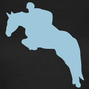 equitation cavalier8 obstacle cheval sau Tee shirts - T-shirt Femme