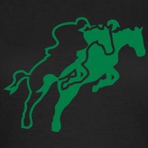equitation48 cavalier1 cheval obstacle s Tee shirts - T-shirt Femme