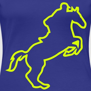 equitation cavalier14 obstacle cheval tr Tee shirts - T-shirt Premium Femme