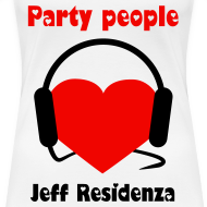 Ontwerp ~ Women Shirt: Jeff Residenza - Party people