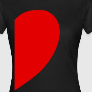 Heart Left T-Shirts - Frauen T-Shirt