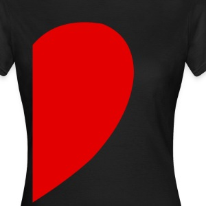 Heart Left T-Shirts - Women's T-Shirt