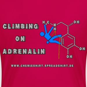 Climbing on Adrenalin W - Frauen Premium T-Shirt