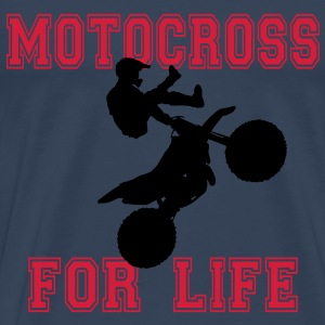 motocross for life T-shirts - Herre premium T-shirt