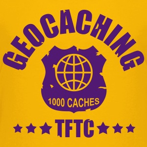 geocaching - 1000 caches - TFTC / 1 color T-shirts - Premium-T-shirt tonåring