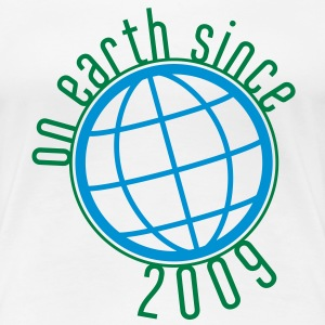 Birthday Design - (thin) on earth since 2009 (uk) T-Shirts - Women's Premium T-Shirt