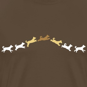 dog jumps T-shirts - Mannen Premium T-shirt