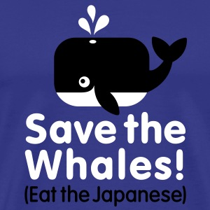 Save the Whales! Eat the Japanese T-Shirts - Männer Premium T-Shirt